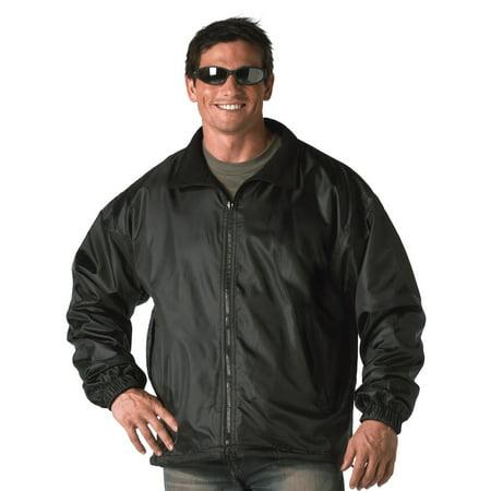 Mens Black Reversible Jacket, Fleece Windbreaker, Coat