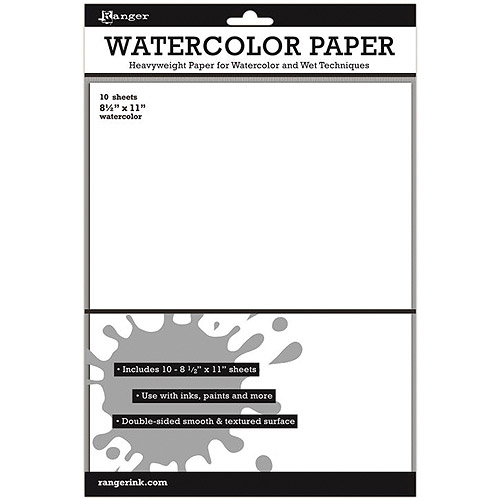 "Ranger Surfaces Watercolor Paper, 10-Pack, 8.5"" x 11"""