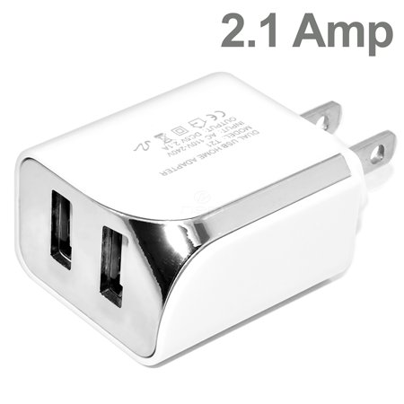 Accessory Kit 3 in 1 Charger Set Compatible with Google Nexus 10 Cell Phones [2.1 Amp USB Car Charger and Dual USB Wall Adapter + 5 Feet Micro USB Cable] White - image 8 de 9