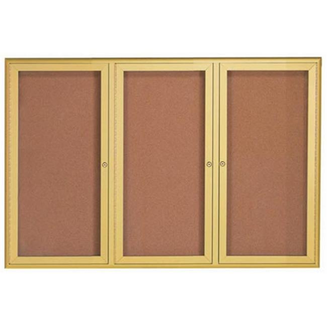 Aarco Products Enclosed Waterfall Bulletin Board