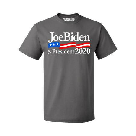P&B Biden For President 2020 Elections Campaign Men's T-shirt, 2XL, Charcoal