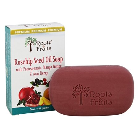 Roots & Fruits - Rosehip Seed Oil Soap with Pomegranate, Mango Butter & Acai Berry - 5 oz.