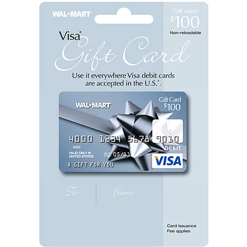 $100 Walmart Visa Gift Card (service fee included) - Walmart.com