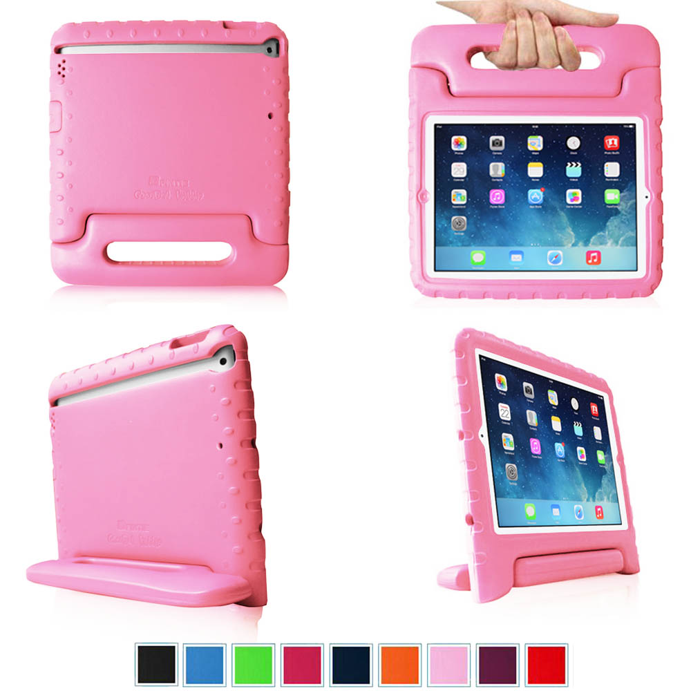iPad mini 3 / iPad mini 2 / iPad mini Kiddie Case - Fintie Kids Friendly Cover Light Weight Shock Proof, Pink