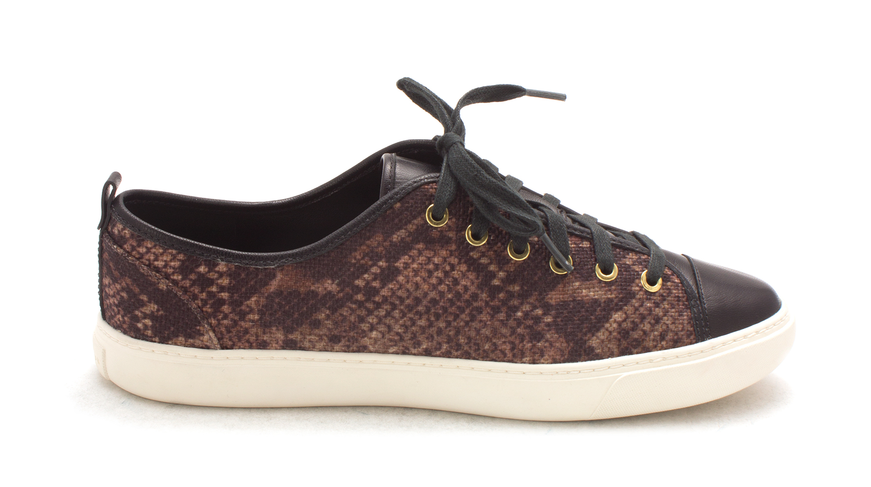 Cole Haan Womens Christysam Low Top Lace Up Fashion, Brown/Black, Size 6.0