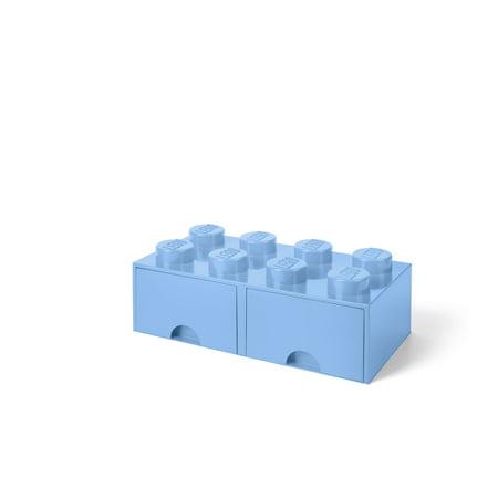 Lenox Royal Scroll - LEGO Storage Brick Drawer 8, Light Royal Blue