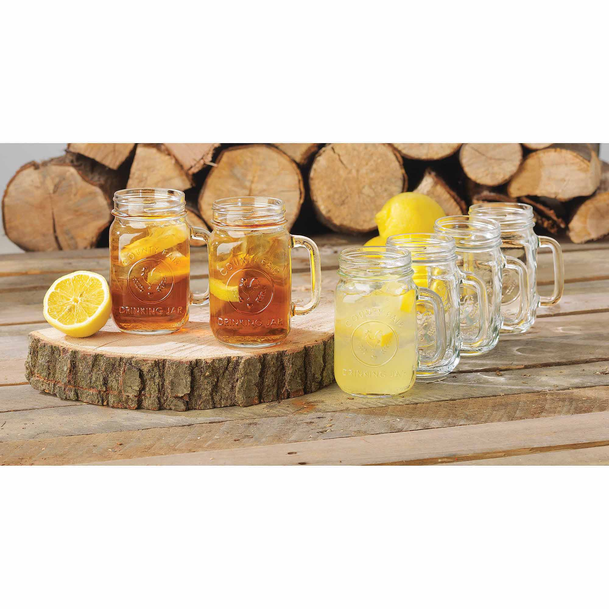 Libbey Handled Drinking Jar 8-Piece Set, Glass by Libbey