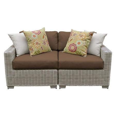 TK Classics Coast 2 Piece Wicker Patio Furniture Set ()