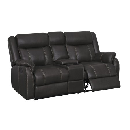 Global Console Reclining Loveseat With Drawer Gin Rummy Seal