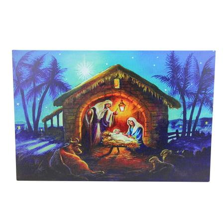 LED Fiber Optic Lighted Nativity Scene Christmas Wall Art 15.75