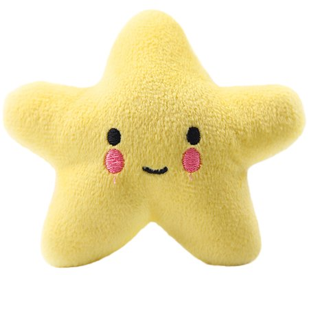 Colorful Soft Plush Dog Toys Cat Puppy Star Bone Shape Squeaky Sound Pet Cleaning Teeth Chew
