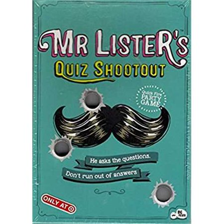 Mr. Lister's Quiz Shootout Quick Fire Party Card - Halloween Quiz Games For Adults
