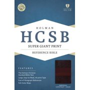 HCSB Super Giant Print Reference Bible, Saddlebrown LeatherTouch Indexed