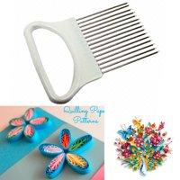 New Cloud Paper Quilling Comb Plastic Holder Origami Carding Art DIY Craft Tool