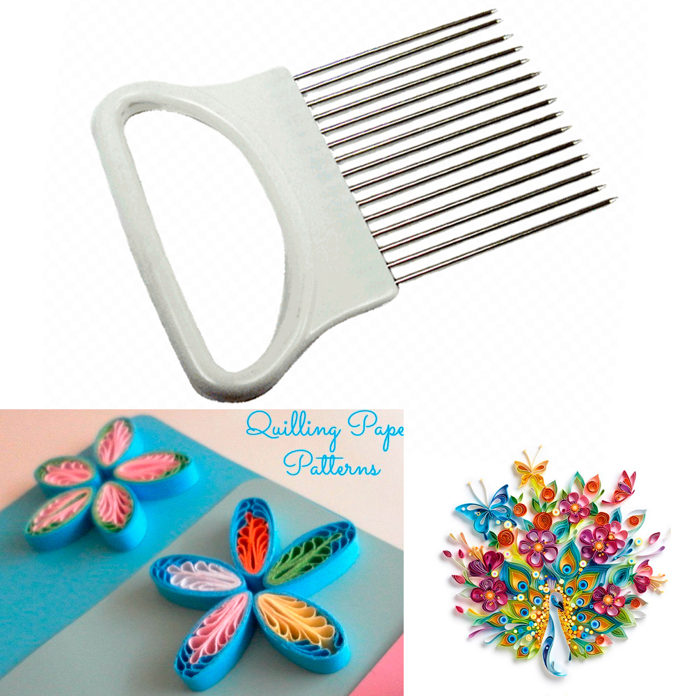 Iumer 1 PC Quilling Comb Plastic Holder DIY Paper Craft Tool Creat Loops Accessory Supply,Pink