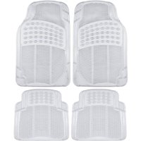 BDK Clear Car Floor Mats, 4 Pieces Set Trimmable to Fit Semi Custom