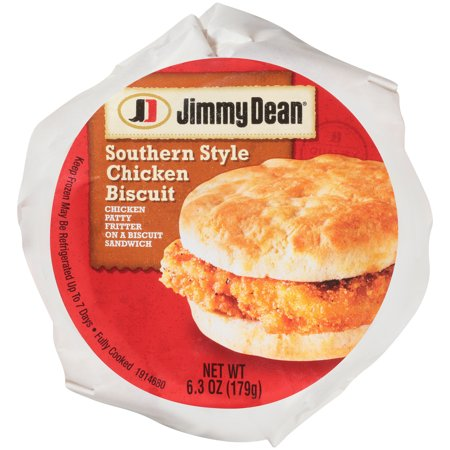 Jimmy Dean Southern Style Chicken Biscuit Sandwich, 6.3 oz., 12 per