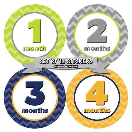 Months In Motion Monthly Baby Milestone Stickers | Newborn Boy Photo Prop Month Sticker (008)](Photo Ideas For Newborn Boy)