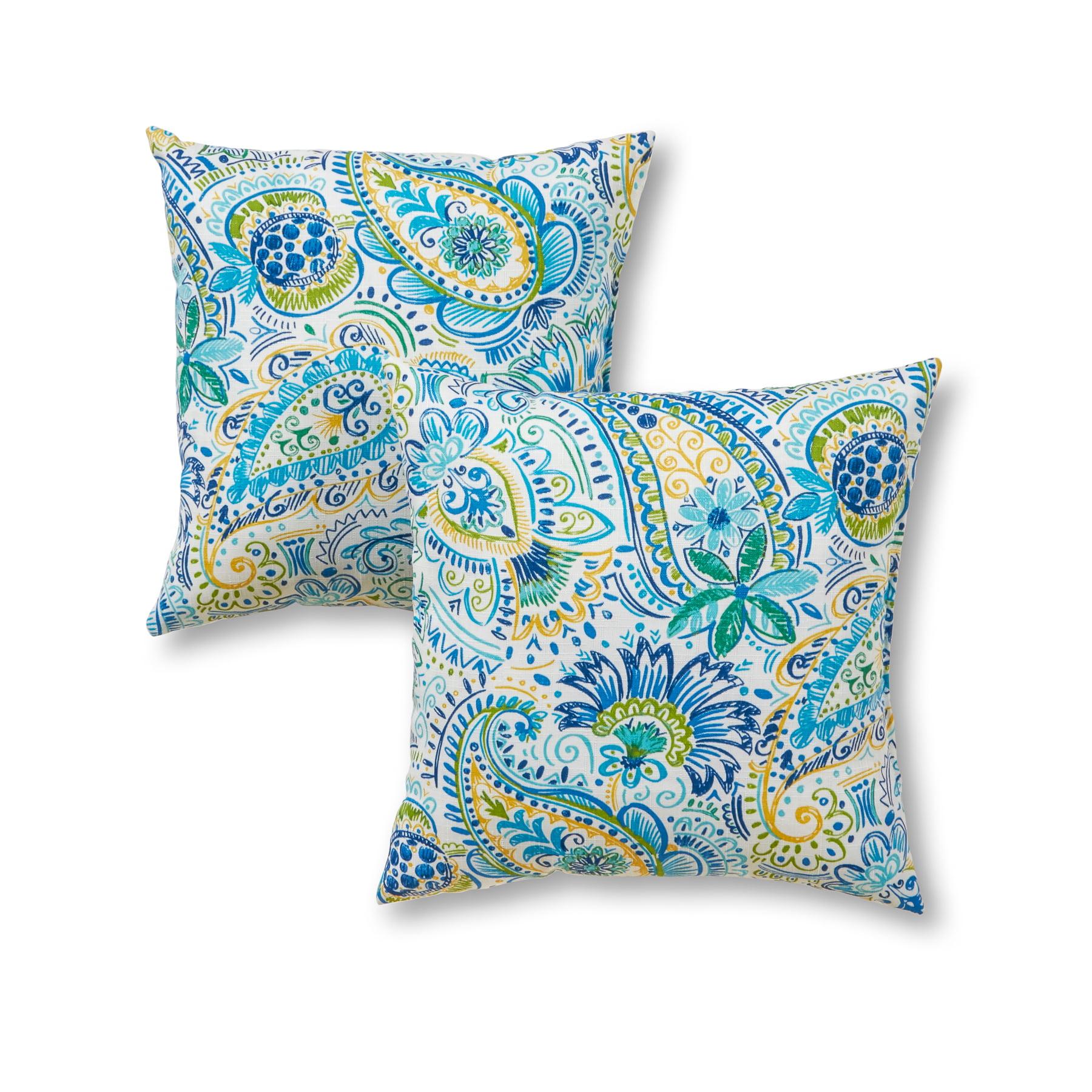 Orange 17 Square Throw Pillows /& 12 x 20 Rectangle // Lumbar Decorative Throw Pillows Set of 4 Indoor // Outdoor Pillows Blue Yellow Pink Bright Artistic Floral