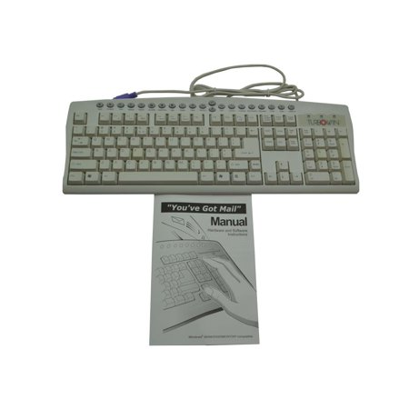 KM-2501PUSA Addesso IBM PC 6-PIN MINI-DIN PS/2 Wired TURBO-WIN Enhanced Keyboard Desktop Keyboards - New