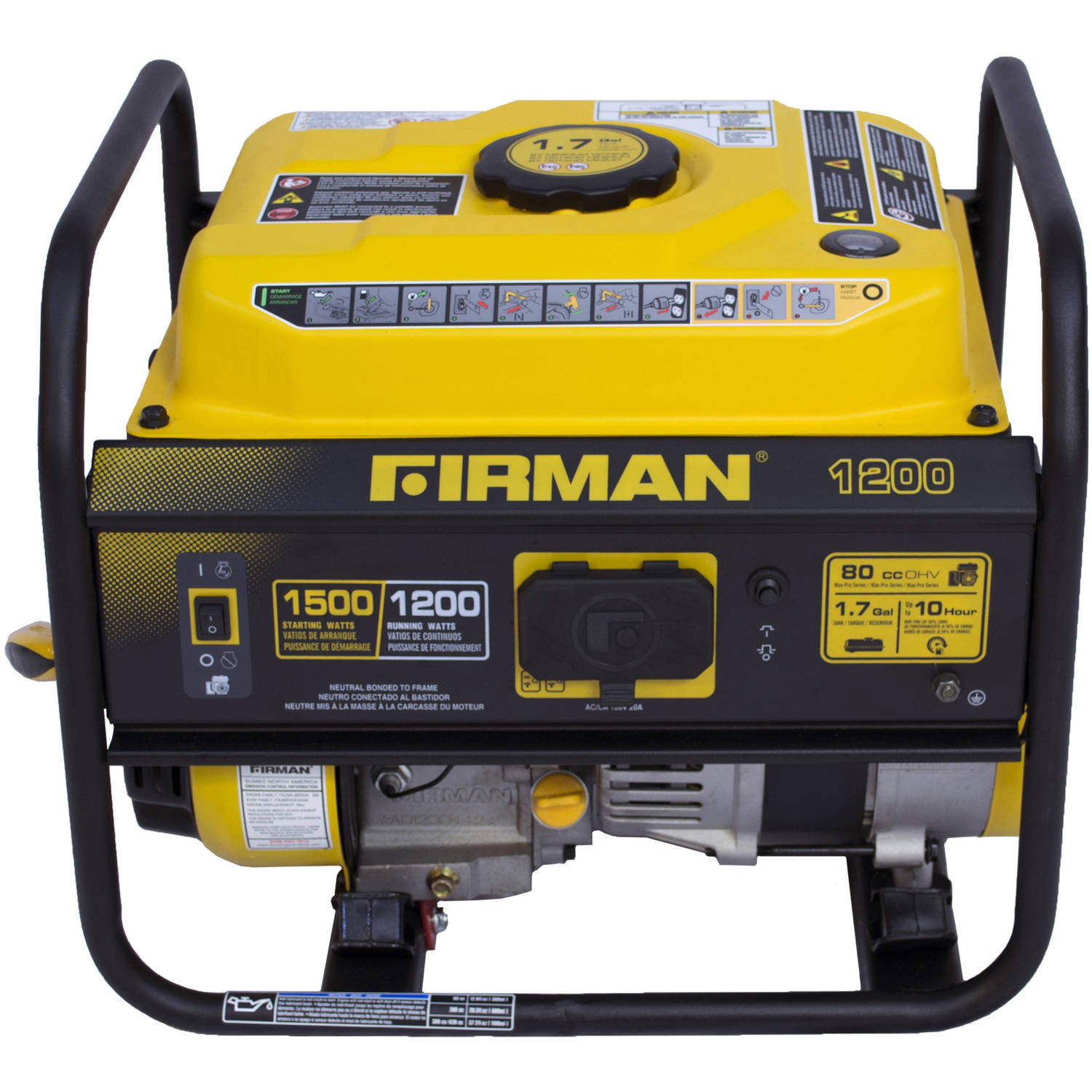 Firman Power Equipment P Gas Powered 1200 1500 Watt Portable