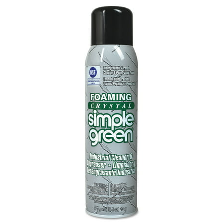 Degreaser 15 Oz Aerosol (Simple Green Foaming Crystal Industrial Cleaner & Degreaser, 20 oz Aerosol, 12/Carton)