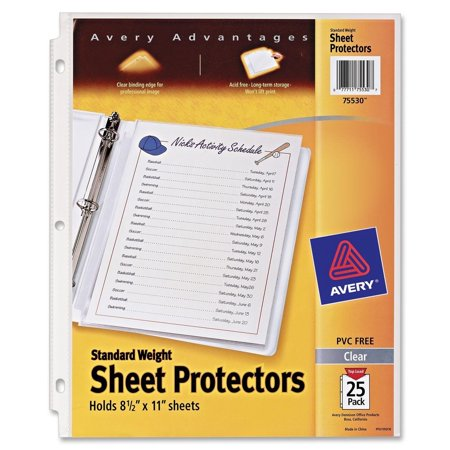 Alvin Archival Print Protector - Standard Weight Sheet Protectors, Pack of 25 Sheet Protectors (75530), Acid free and archival safe, won't lift print from your papers By Avery