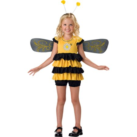 In Character Kids Bumble Bee Insect Outfit Girls Halloween Costume