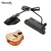 VERTECHnk VS-8M Active Guitar Soundhole Pickup Transducer Humbucker + Microphone Dual Pick-up System with 6.35mm Endpin Jack Control for Acoustic Folk Guitar