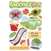 Karen Foster 7327068 Cardstock Stickers-backyard Fun