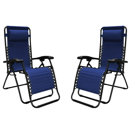 Caravan Sports Infinity Zero Gravity Chair 2 Pack - Blue