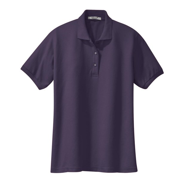 Mafoose Womens Silk Touch Classic Polo Shirt Eggplant L