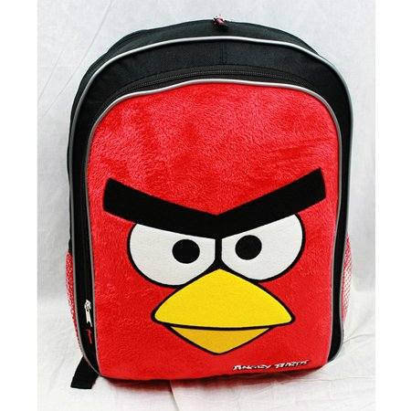 New Large Bird (Backpack - Angry Birds - Red Birds Face (Large School Bag) New Book an8289 )
