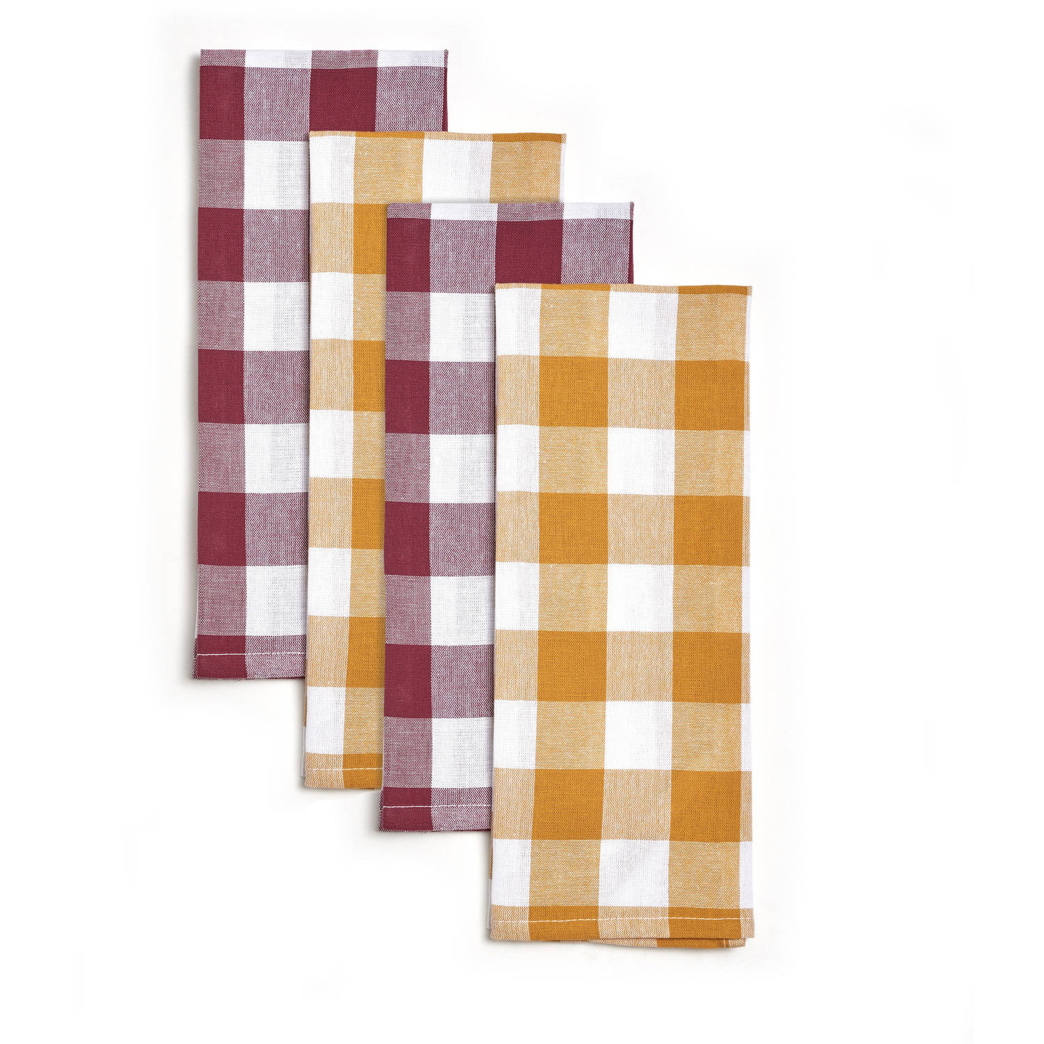 Pioneer Woman Charming Check Kitchen Towels, Set of 4 by