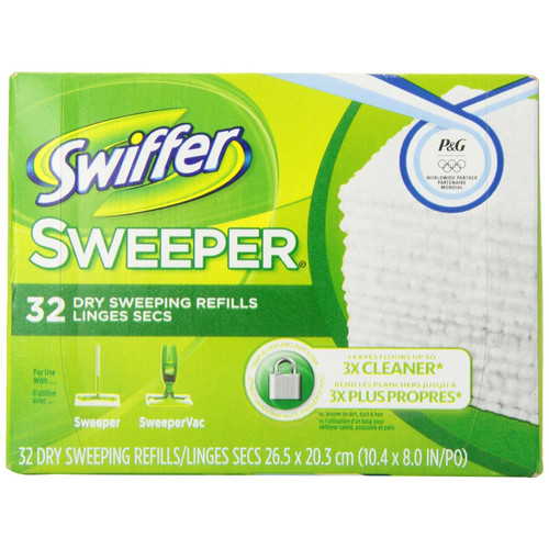 Swiffer Sweeper Dry Sweeping Cloth Refills, Unscented, 32 count