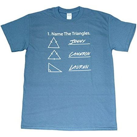 Mens Triangle - Name Triangle Funny Math Adult Mens Unisex Indigo Blue T-Shirt (Medium)