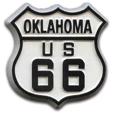 Route 66 Oklahoma Road Sign Fridge Magnet