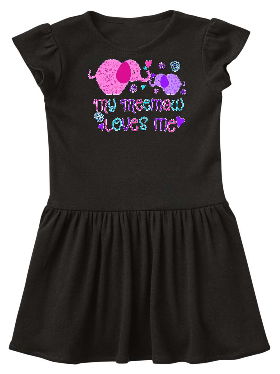My Meemaw Loves Me- cute elephants Toddler Dress