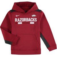 Arkansas Razorbacks Nike Youth Color Block Performance Pullover Hoodie - Crimson