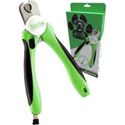 Mighty Paw Dog Nail Clippers, Pet Nail Trimmers & Nail File Set Includes a Built-in Safety Guard to Avoid Cutting Too Short. Stainless Steel Blade & Ergonomic Handle. Vet Recommended.