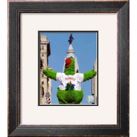 Philly Phanatic World Series (The Philly Phanatic 2008 World Series Parade Framed Photographic Print Wall Art  - 16x16 )