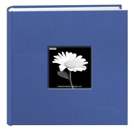 Fabric Frame Cover Photo Album 200 Pockets Hold 4x6 Photos. Sky Blue