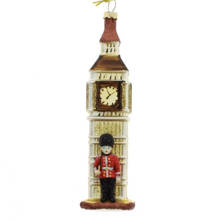6 Inch Big Ben Glass Christmas (Big Brown Glasses)