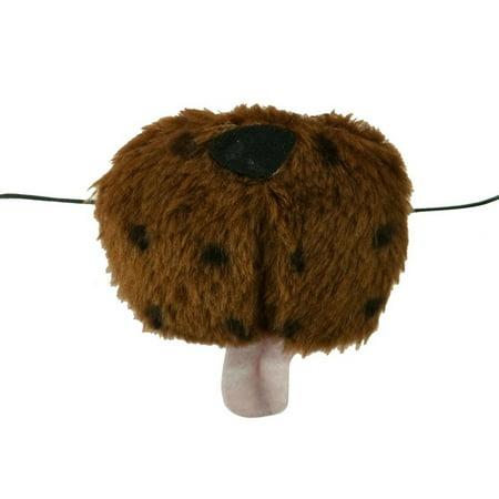Dog Nose Mask (Brown Fur Dog Nose Animal Plush Mini Mask Puppy Pup Costume)