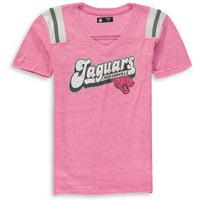 Jacksonville Jaguars New Era Girls Youth Star of the Game Tri-Blend T-Shirt - Pink