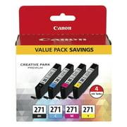 Canon 0390C005 (CLI-271) Ink, Black/Cyan/Magenta/Yellow