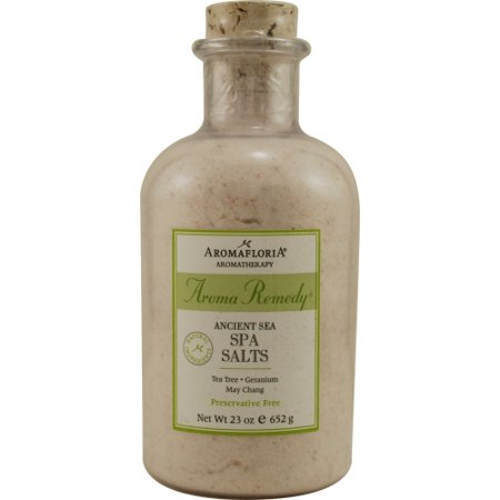 AROMA REMEDY by Aromafloria - ANCIENT SEA SPA SALTS 23 OZ BLEND OF TEA TREE, GERANIUM, AND MAY CHANG (PRESERVATIVE FREE) - - Aroma Remedy Bath
