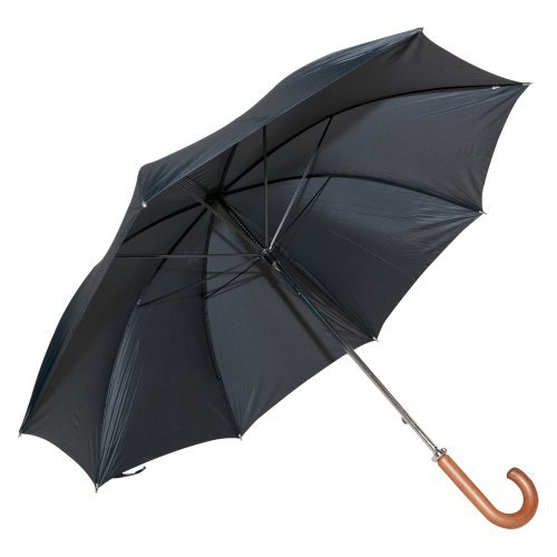Elite Rain Frankford 2988-CH Classic Black Doorman Umbrella with Curved Handle
