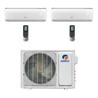 Gree MULTI18CVIR200 - 18,000 BTU Multi21+ Dual-Zone Wall Mount Mini Split Air Conditioner Heat Pump 208-230V (9-9)