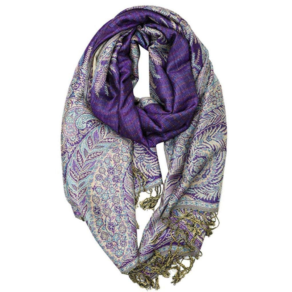 Phoenix Tail Thicker Pashmina Scarves Purple